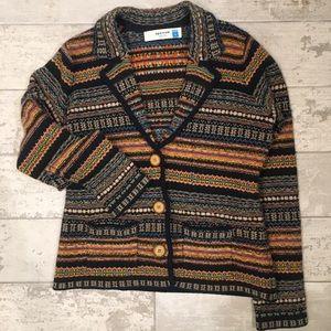 Lambswool sweater blazer